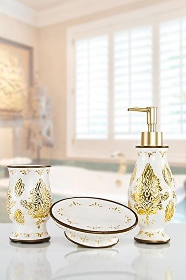İrya Dora Gold 3 Parça Banyo Seti Renkli